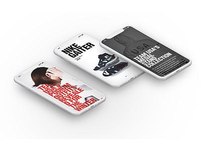 N TEAM/MOBILE app fullsize interface mobile responsive ui ux adaptive ios figma iphonex