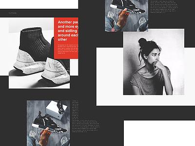 HJTSOQ graphic design interface desktop figma website minimal responsive web fashion grid fullsize web design