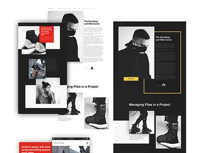 HJTSOQ_Layout graphic design interface desktop figma website minimal responsive web fashion grid fullsize web design