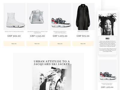 MM02W adaptive typography product page graphic design ux concept interface mobile web design figma modern web-design website grid clean fashion web minimal responsive fullsize