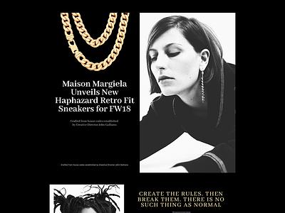 MM_DARKMODE ui ux concept web design website web-design minimal graphic design interface modern figma clean web fashion responsive black  white black darkmode grid fullsize
