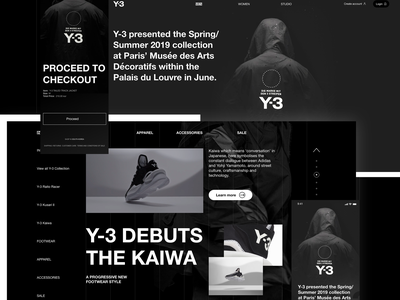 Y3 LAYOUT typography ui ux graphic design modern website clean web-design interface web design figma fashion web responsive minimal grid fullsize