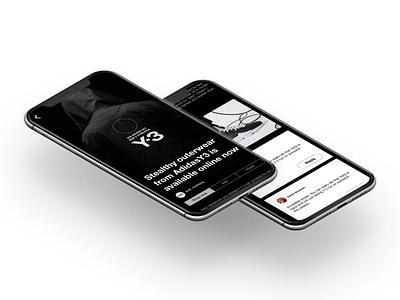Y3 MOBILE mobile app design clean web minimal fullsize design mobile