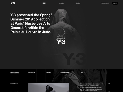 Y3 DESK typography product page ui ux graphic design interface web design modern figma web-design website clean fashion responsive grid minimal fullsize