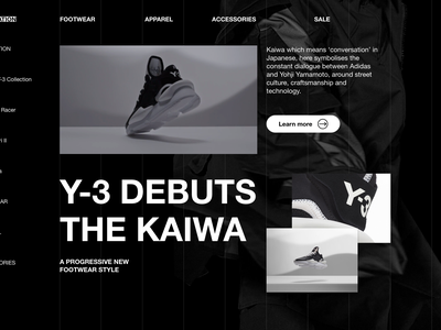 Y3 DESK02 retina typography product page ux ui graphic design web design modern figma web-design website minimal clean fashion web responsive grid fullsize