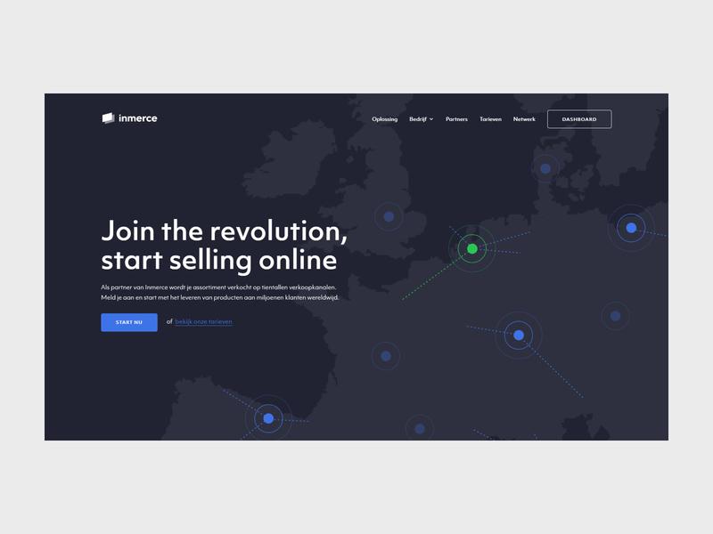 Inmerce - Hero design web website minimal flat illustration ux ui branding webdesign
