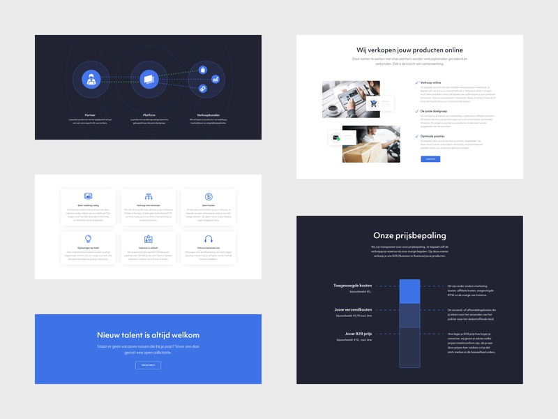 Inmerce - Elements minimal flat website webdesign web ux ui design branding