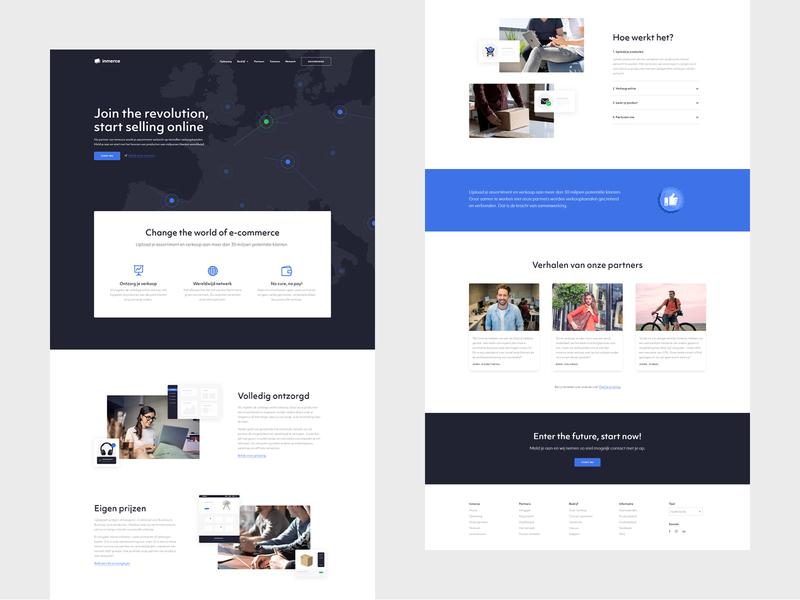 Inmerce - Webdesign website webdesign web ux ui minimal flat design branding