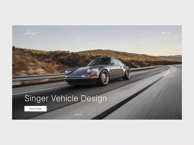 Singer - Hero Animation animation image slider hero design images webdesign web ux ui minimal design