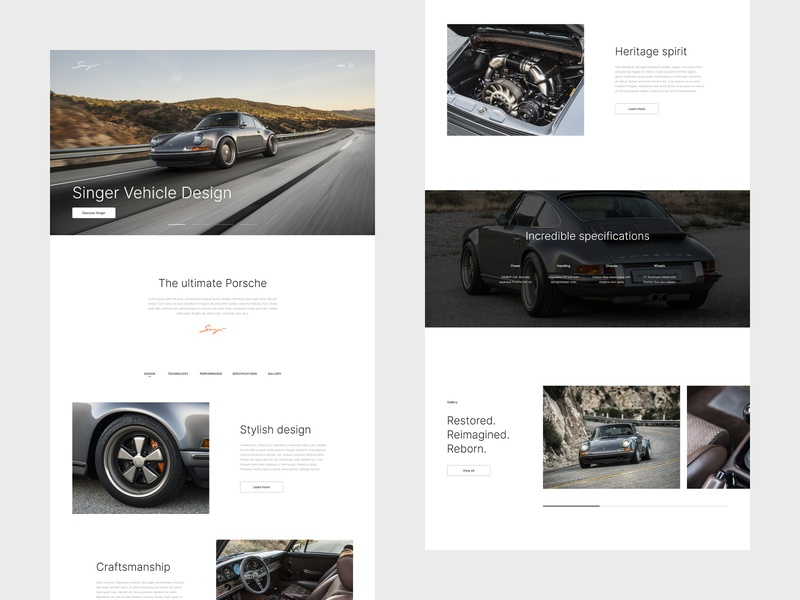 Singer - Webdesign website flat webdesign web ux ui minimal design