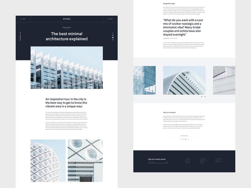 Minimal Blog - Webdesign blog design blog website webdesign web ux ui minimal design