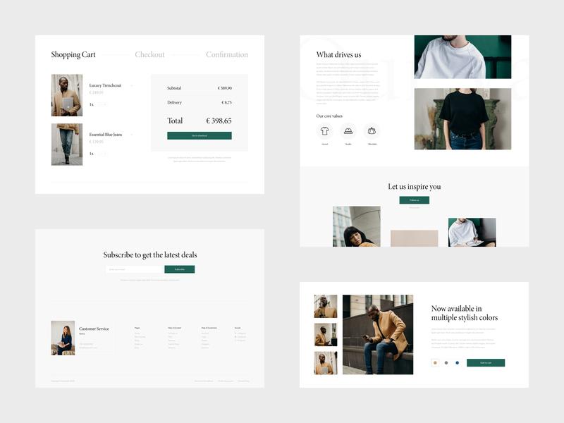 Fashionalis - Elements fashion store fashion ecommerce design ecommerce webshop website webdesign web ux ui minimal design