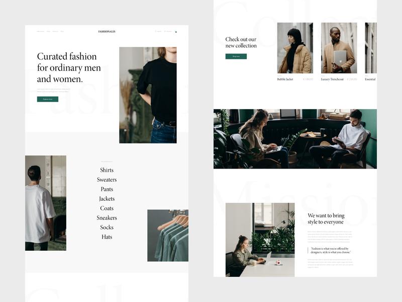 Fashionalis - Webdesign fashion store fashion ecommerce design ecommerce webshop website webdesign web ux ui minimal design