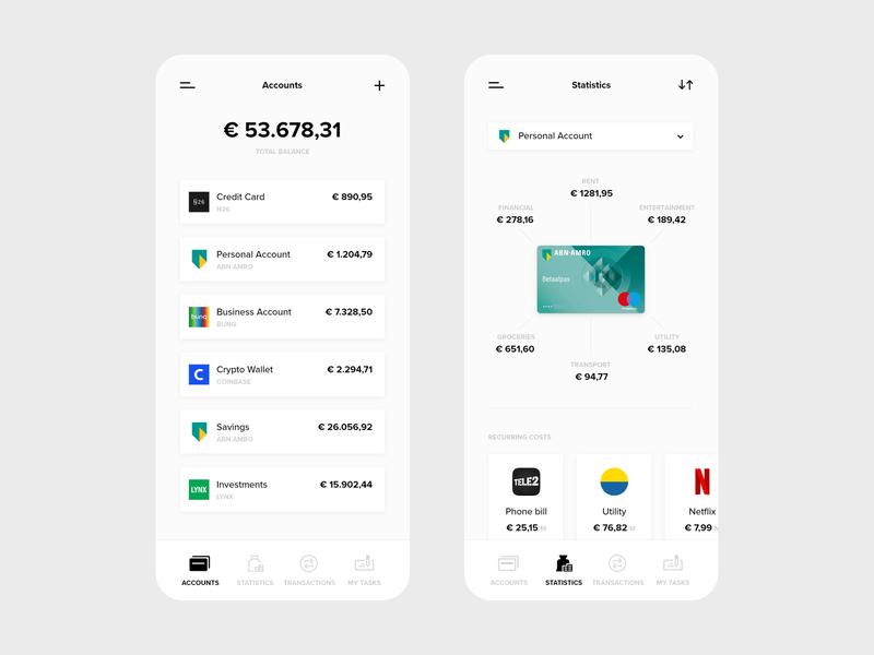 Easy Bank - App bank app ux ui mobile ui mobile design mobile minimal design app design app