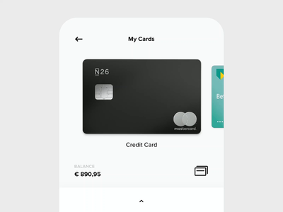 Easy Bank - Cards Animation bank app app animation animation ux ui mobile ui mobile design mobile app mobile minimal design app design app