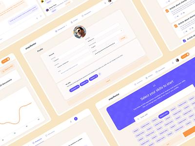 Educational platform for students and tutors illustration dashboard ui kit user interface product design uiux mascot squirrel chat student teacher tutor education school mentalstack