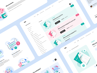 Lab tests landing page homepage how it works hair ui laboratory tests pet human health analysis e-commerce home landing page medicine illustration product design mentalstack dashboard