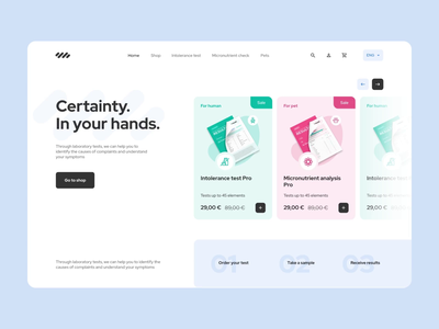 Lab tests landing page lab healthcare analytics products scroll illustration health medicine landing shop animation e-commerce laboratory tests home product design mentalstack