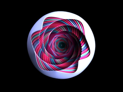 Colors and white sphere