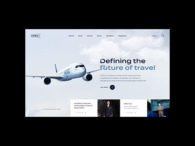 APEX - Concepts web website web design ui outpost layout grid digital design airline