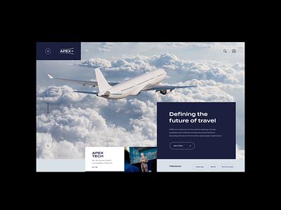 APEX - Concepts web airline design digital grid layout outpost ui web design website