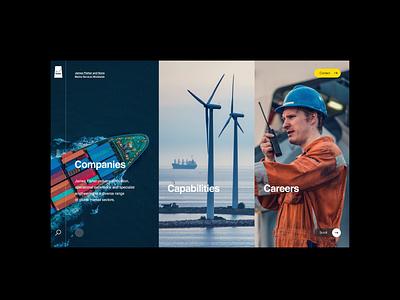 James Fisher Marine - Concepts ui outpost logistics cargo typography digital layout web grid website web design