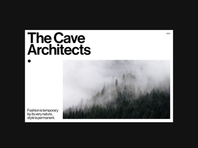 The Cave Architects - Website outpost design minimalism grid minimal architects webdesign web website ui architecture