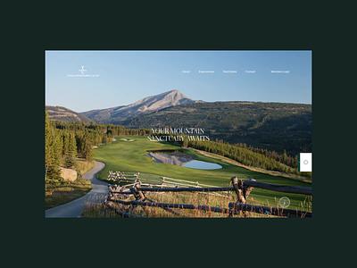 Yellowstone Club Website web outpost digital layout grid holiday adventure hotel resort ui web design web site website