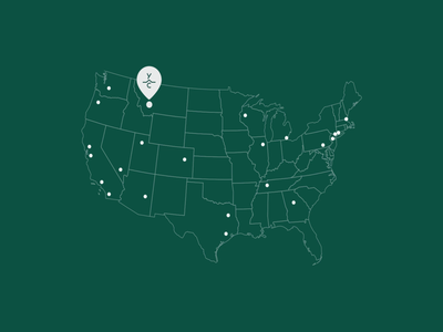 Yellowstone Map Animation resort design web design website design ui adventure lottie map motion animation web website
