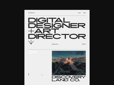 Chris Wilcock Portfolio 2020 outpost minimal design portfolio folio webdesign web design layout grid website web