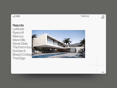 THE CAVE animation minimal website interactive ux web design digital ui design outpost