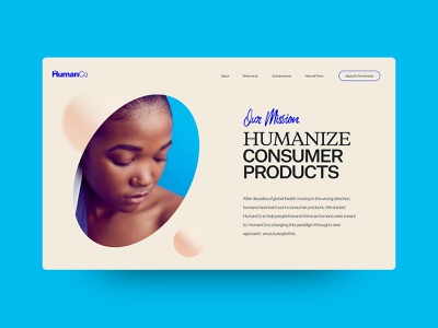 HumanCo Concept graphic design wellbeing health food wellness interface typography grid web agency website interactive ux web design digital ui design outpost