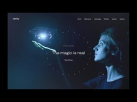 Verity Studios website concept