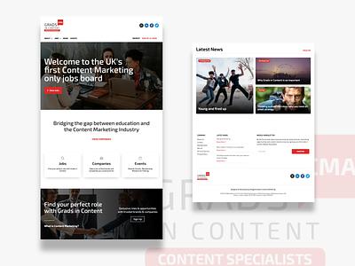 Grads in Content (CMA) Website Design website design website ui  ux ui design ui layout landingpage landing page interface design clean ui clean