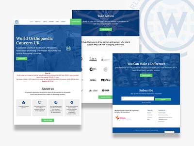 WOC UK Website Design website design website ui  ux ui design ui layout landing page landingpage interface design clean ui clean