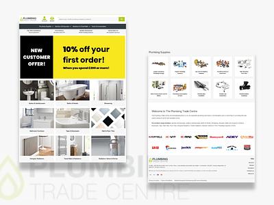 PTC Website Design ecommerce plumbing webdesign website ui  ux ui landingpage interface design clean ui clean