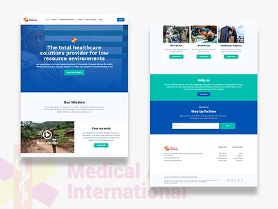 Medaid Website Design medical web design layout landing page website ui  ux ui landingpage interface design clean ui clean