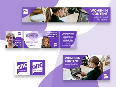 WIC Digital Branding Package design social network vector brand design graphic design graphicdesign logo design logo social media socialmedia