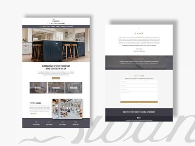 Swan Website Design furniture store furniture web agency webdesigner webdesign website ui ui  ux landingpage interface design clean ui clean