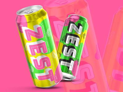 ZEST Energy Drink Branding branding design brand brand identity brand design branding