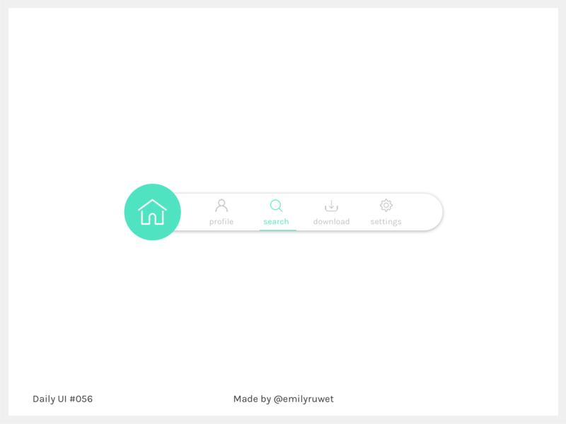 Dailyui 56 blue mint menu breadcrumbs sketch app uxdesign uidesign dailyui