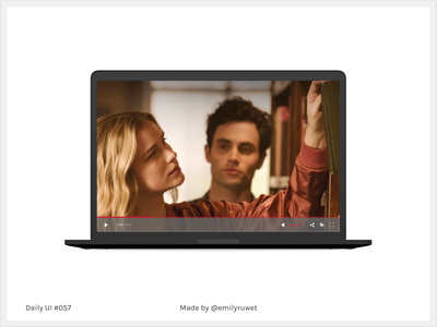 Dailyui 57 macbook mockup videoplayer sketch app uxdesign uidesign dailyui