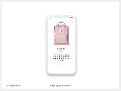 Dailyui 58 shopping card adobe photoshop sketch app uxdesign uidesign dailyui