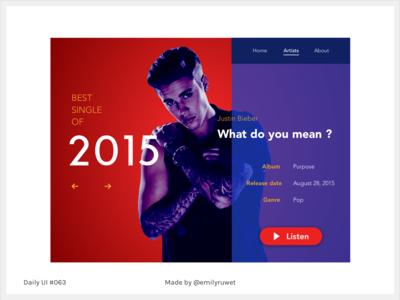 Dailyui 63 single best of 2015 sketch app uxdesign uidesign dailyui