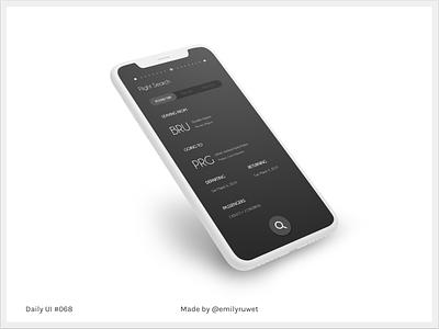 Dailyui 68 flight search flight mockup iphonex adobe photoshop sketch app uxdesign uidesign dailyui