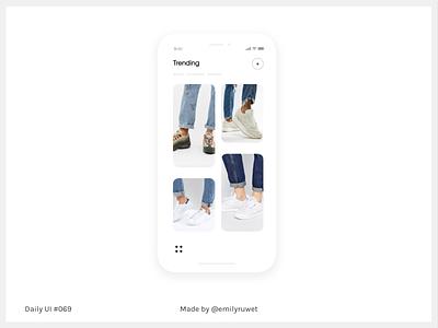 Dailyui 69 sneakers shoes trending design mockup iphonex sketch app uxdesign uidesign dailyui