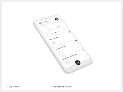 Dailyui 71 schedule mockup iphonex adobe photoshop sketch app uxdesign uidesign dailyui