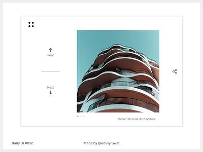 Dailyui 72 photograhy image slider invisionstudio sketch app uxdesign uidesign dailyui