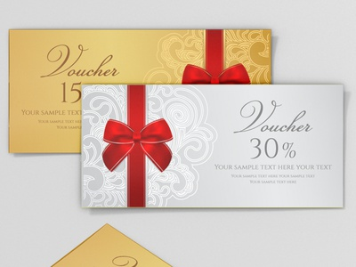 voucher design coupon templates gift certificates border present premium blank label layout background card frame gift template voucher certificate design vector business invitation banner elegant coupon