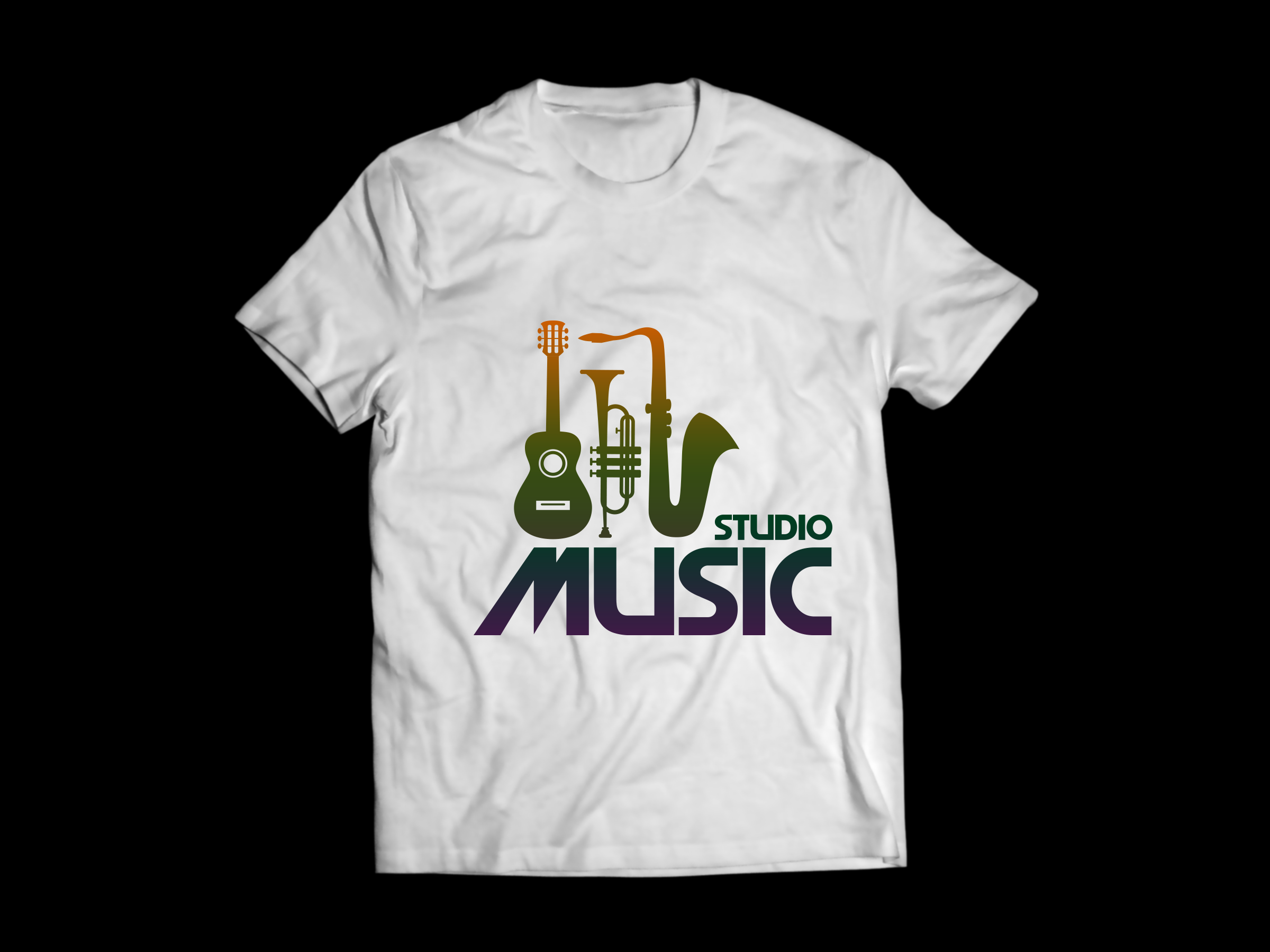 Music Studio T Shirt Design By Graphic Art Dribbble Dribbble